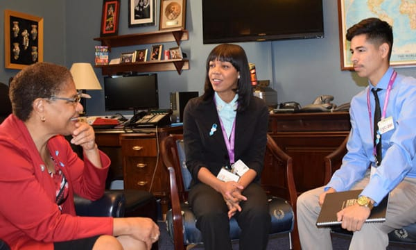 Students Meet with Congresswoman in Her Office for Shadow Day