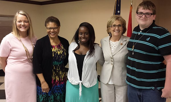NFYI In The News-01 - May 2016 - Congresswomen Pose with Students