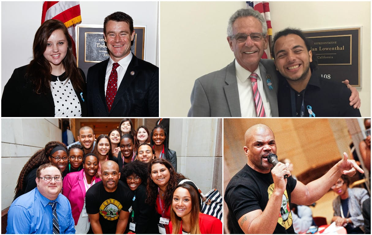 collage of special guests congressmen and DMC