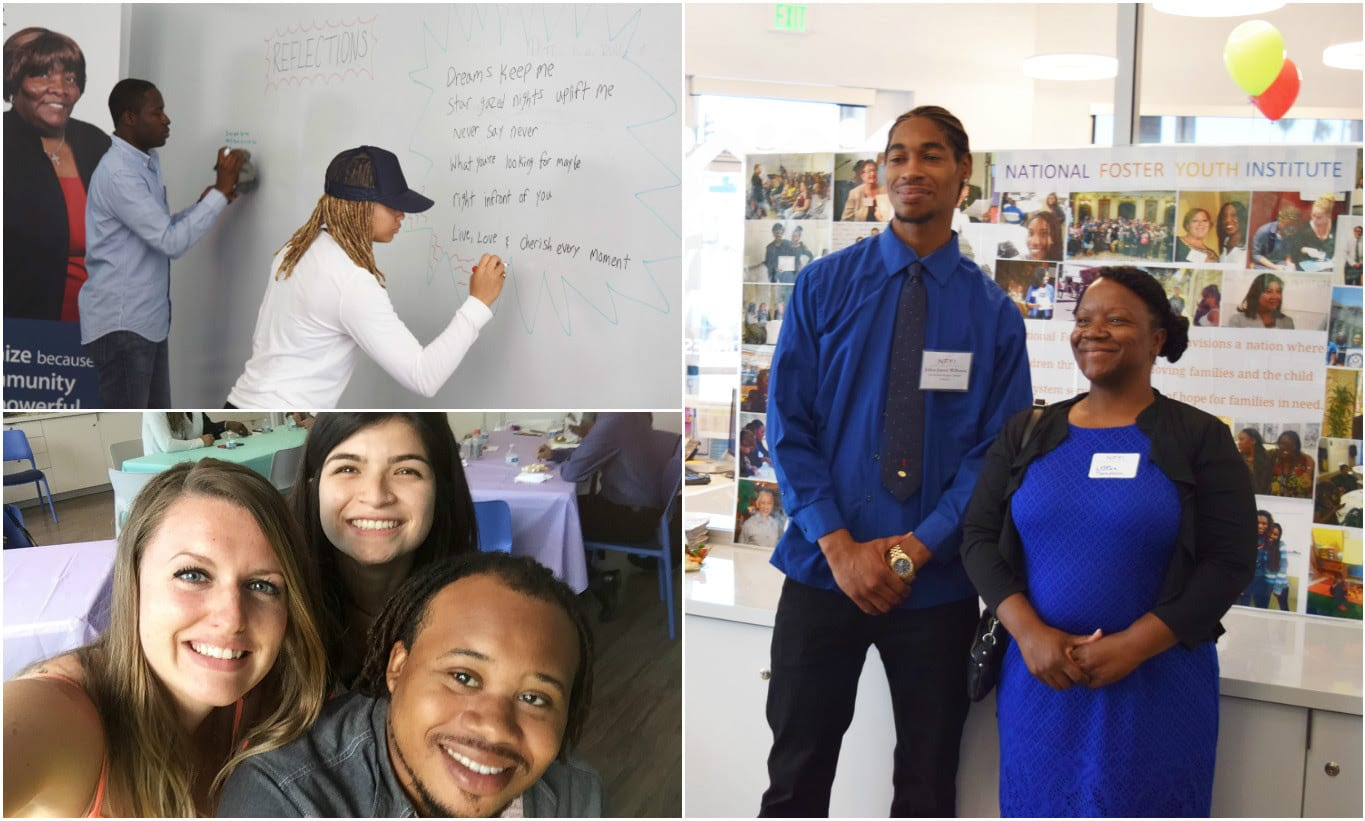 Collage of 3 Photos of Students Participating in the Job Shadow Celebration